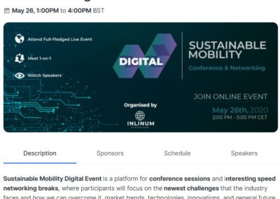 Sustainable Mobility - Digital Conference & Networking