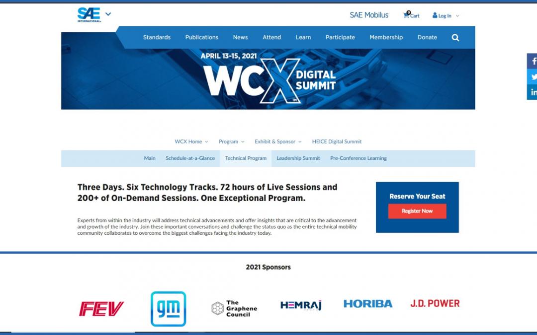 Visit us @ SAE WCX Digital Summit